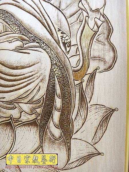 A19014.時尚佛桌觀音木雕神明彩6尺3 五合三觀音木雕佛聯.JPG