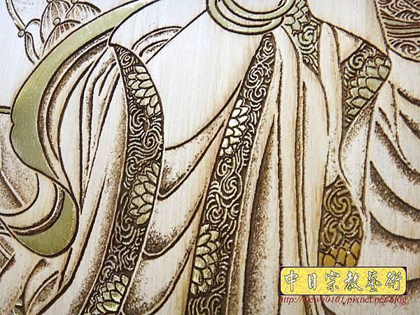 A19015.時尚佛桌觀音木雕神明彩6尺3 五合三觀音木雕佛聯.JPG