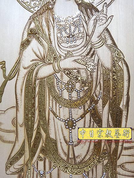 A19411.現代神桌木雕神明聯 西方三聖5尺8木雕佛聯.JPG