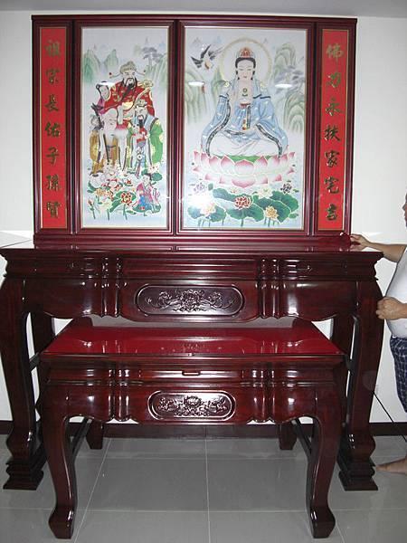 N0101e神桌佛桌神櫥佛櫥神像佛像佛聯神明彩聯對佛祖木雕聯佛具.JPG