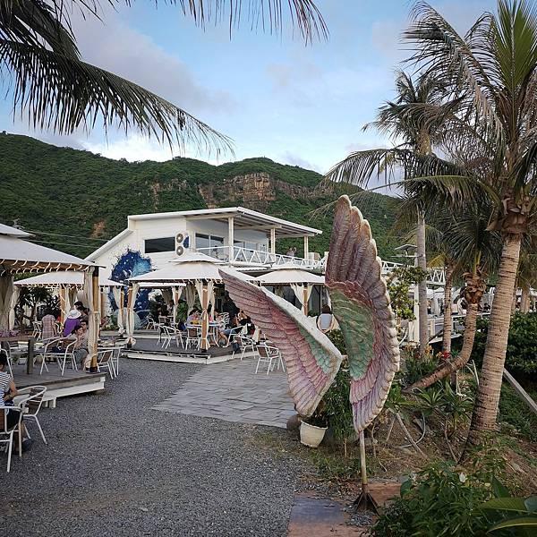 愛琴海海岸海景咖啡