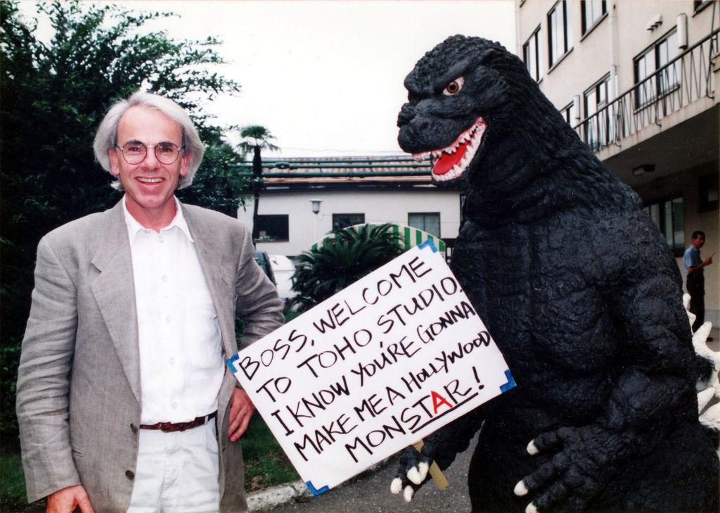 Godzilla_would_be_director(Jan de Bont with Godzilla suit,unmade 1994 American Godzilla film).jpeg