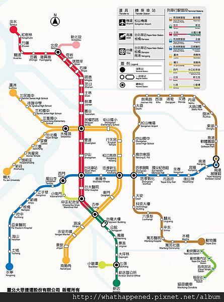 routemapDongmen捷運站地圖