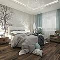 窗簾與床色系搭配