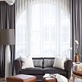 《華之逸窗簾》窗簾推薦 白色與深色搭配窗簾