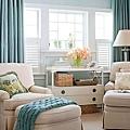 《華之逸窗簾》窗簾推薦 藍綠色舒適感