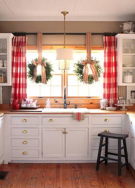 聖誕感窗簾