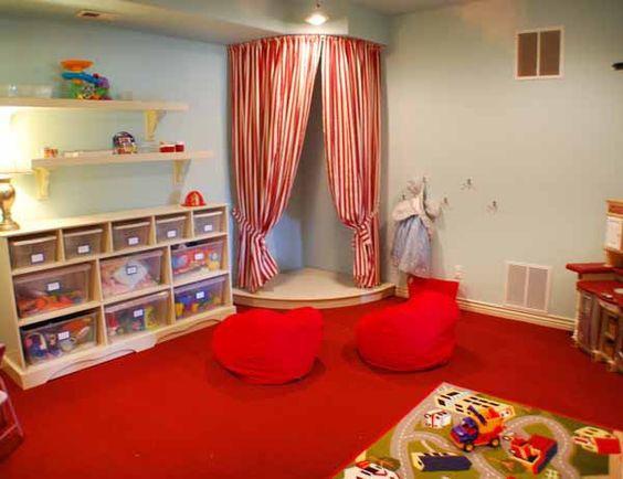窗簾輕隔間應用小朋友空間布置
