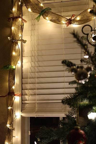 聖誕窗簾布置