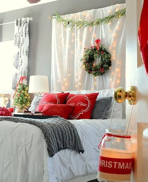 聖誕布置窗簾