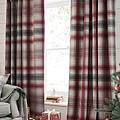 經典格紋聖誕窗簾