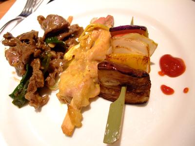 牛肉+雞肉串燒