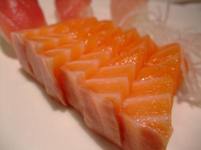 最愛的鮭魚生魚片