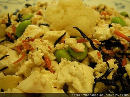 1010524毛豆鹿角菜ˇ拌豆腐SANY0086