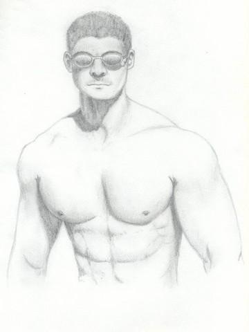 男 model