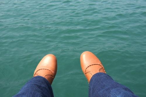 日月潭。靴