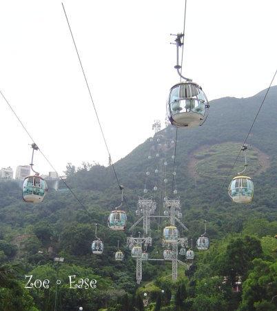 樂園裡的空中纜車