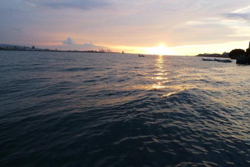 淡水河。夕陽2