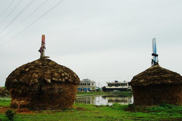 珍珠社區。稻草堆