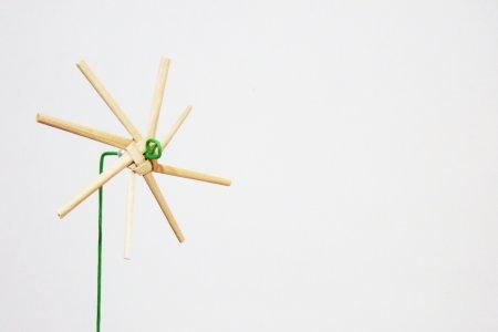 珍珠社區。稻草風車