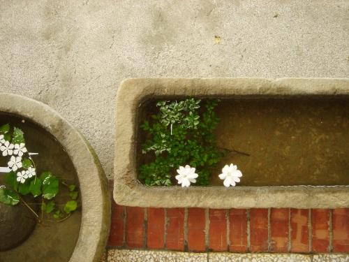 華陶窯。石臼 花兒
