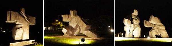 夜訪朱銘美術館。太極