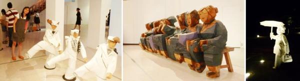 夜訪朱銘美術館。人間
