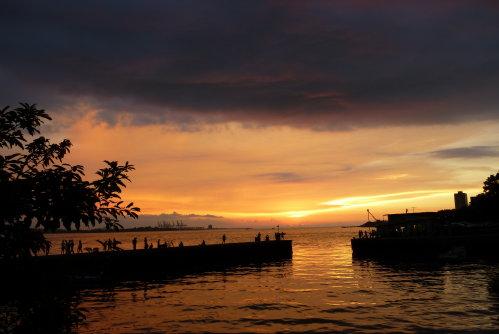 淡水河。夕陽5