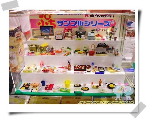 RE-MENT食玩櫃的整體照