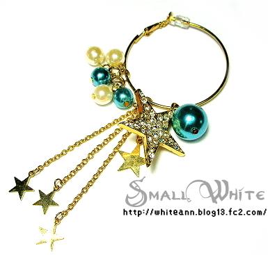 許願星星耳環*藍