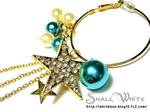 許願星星耳環*藍(近照)