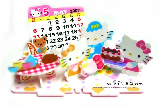 Kitty立體拼圖月曆*5月