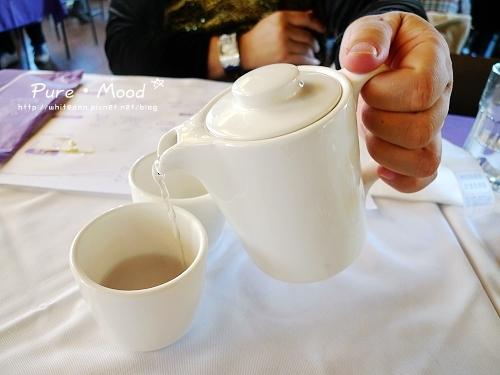『薰衣草舒壓茶』,熱茶可以回沖。