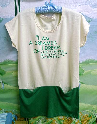 蘋果星沙_簡單印象˙韓製I AM英文字特殊口袋長版上衣