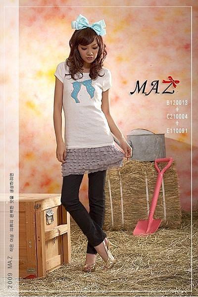 *~MAZ妹子衣著~*【B120013】15女孩穿搭˙甜美立體水鑽線蝴蝶結造型短袖棉T