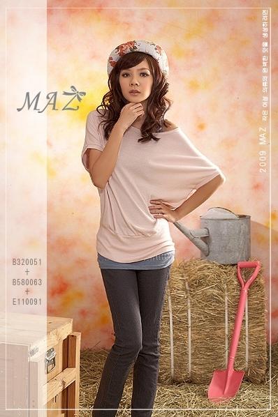 *~MAZ妹子衣著~*【B320051】20韓版˙簡約質感圓領素面蝴蝶袖棉質上衣