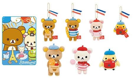2010.3月懶懶熊法國系列娃娃&絨毛吊飾