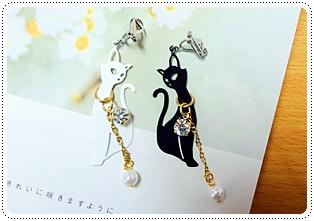 黑貓&白貓耳環