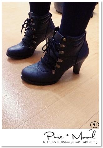 【實穿】韓版  馬丁系粗高跟短靴矮幫靴
