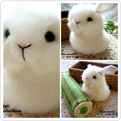 Alice賣場照*77 超高詢問度 一怎個很搶戲毛茸茸胖胖兔兔玩偶