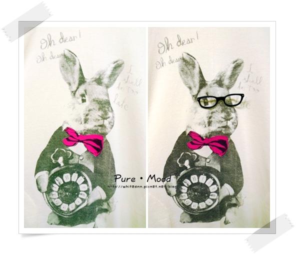 兔子戴眼鏡更加立體!!