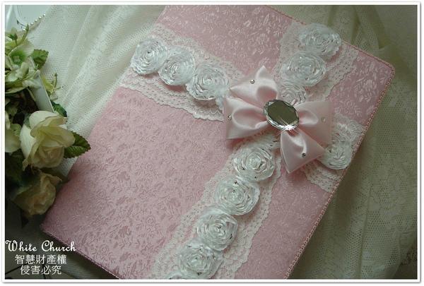 白色禮堂~99/3/29~(花の嫁紗)手作西式結婚證書夾