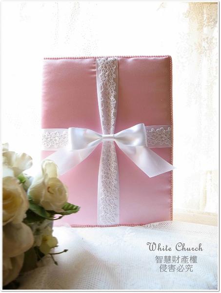 白色禮堂~99/3/29~Pink Tiffany's手作西式結婚證書夾