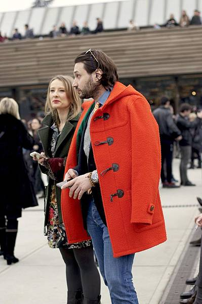Orange-Casentino-cloth-made-up-as-a-duffle-coat