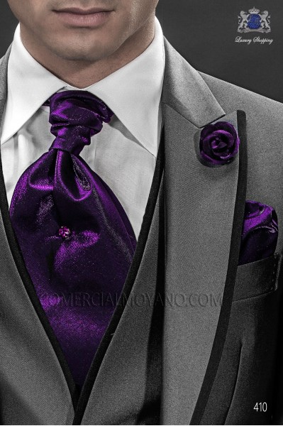 purple-ascot-tie-and-handkerchief