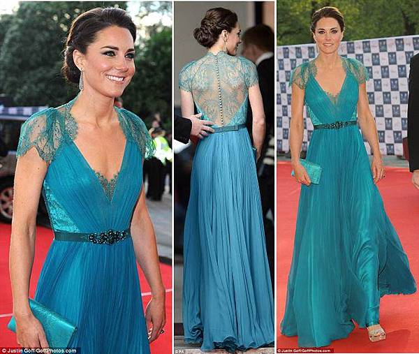 London-Olympic-Games-Gala-Kates-teal-dress