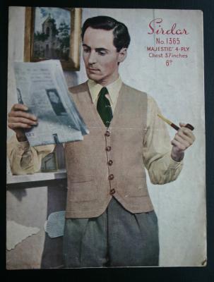sirdar-man-s-cardigan-waistcoat-knitting-pattern-1365-1950s-358-p