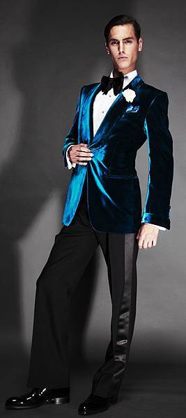 Tom-Ford-teal-green-velvet-cocktail-jacket-blazer-shawl-collar-single-button