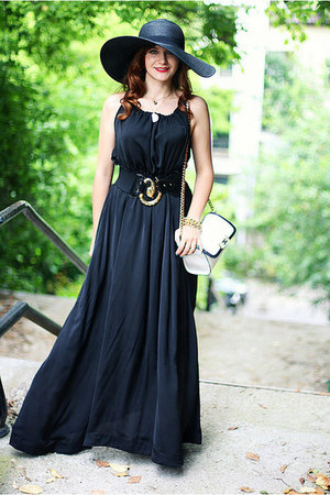 black-sheinside-dress-black-floppy-h-m-hat-white-zara-bag.jpg
