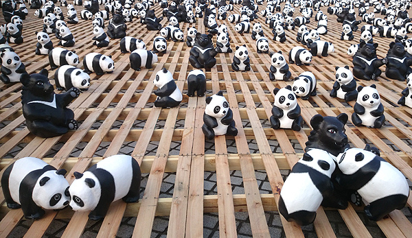 紙熊貓展_圓仔_紙黑熊_黑糖_228連續假期_紙熊貓_台北市民廣場_中正紀念堂